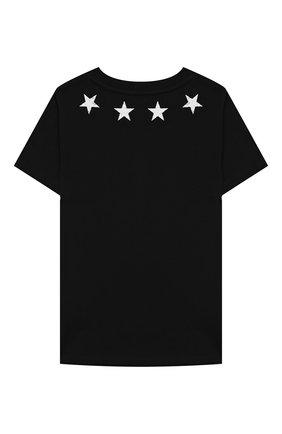 Детский хлопковая футболка GIVENCHY черного цвета, арт. H05073/2A-3A | Фото 2