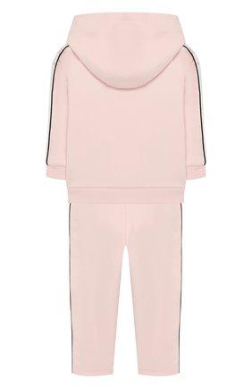 Детский комплект из хлопкового кардигана и брюк GIVENCHY розового цвета, арт. H08016/2A-3A | Фото 2