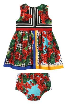 Комплект из хлопкового платья и шорт | Фото №2