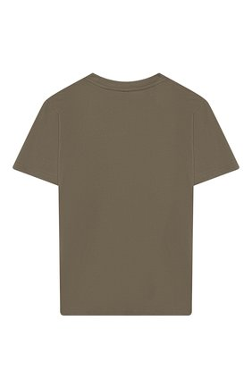 Детская хлопковая футболка STELLA MCCARTNEY хаки цвета, арт. 539756/SMJ08 | Фото 2