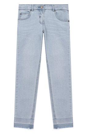 Детские джинсы с необработанными краями STELLA MCCARTNEY голубого цвета, арт. 539345/SMK58 | Фото 1