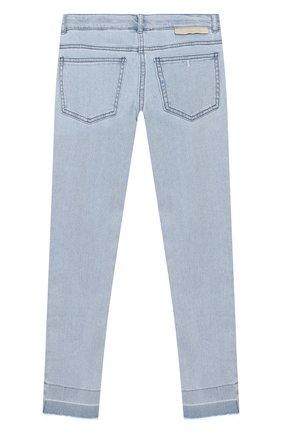 Детские джинсы с необработанными краями STELLA MCCARTNEY голубого цвета, арт. 539345/SMK58 | Фото 2
