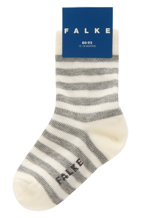Детские хлопковые носки FALKE белого цвета, арт. 10045 | Фото 1