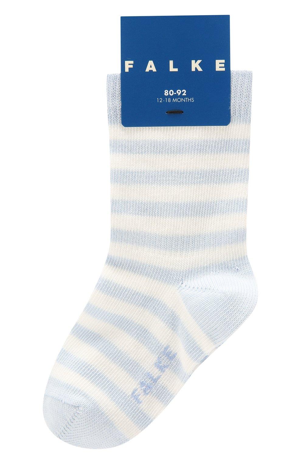 Детские хлопковые носки FALKE голубого цвета, арт. 10045 | Фото 1