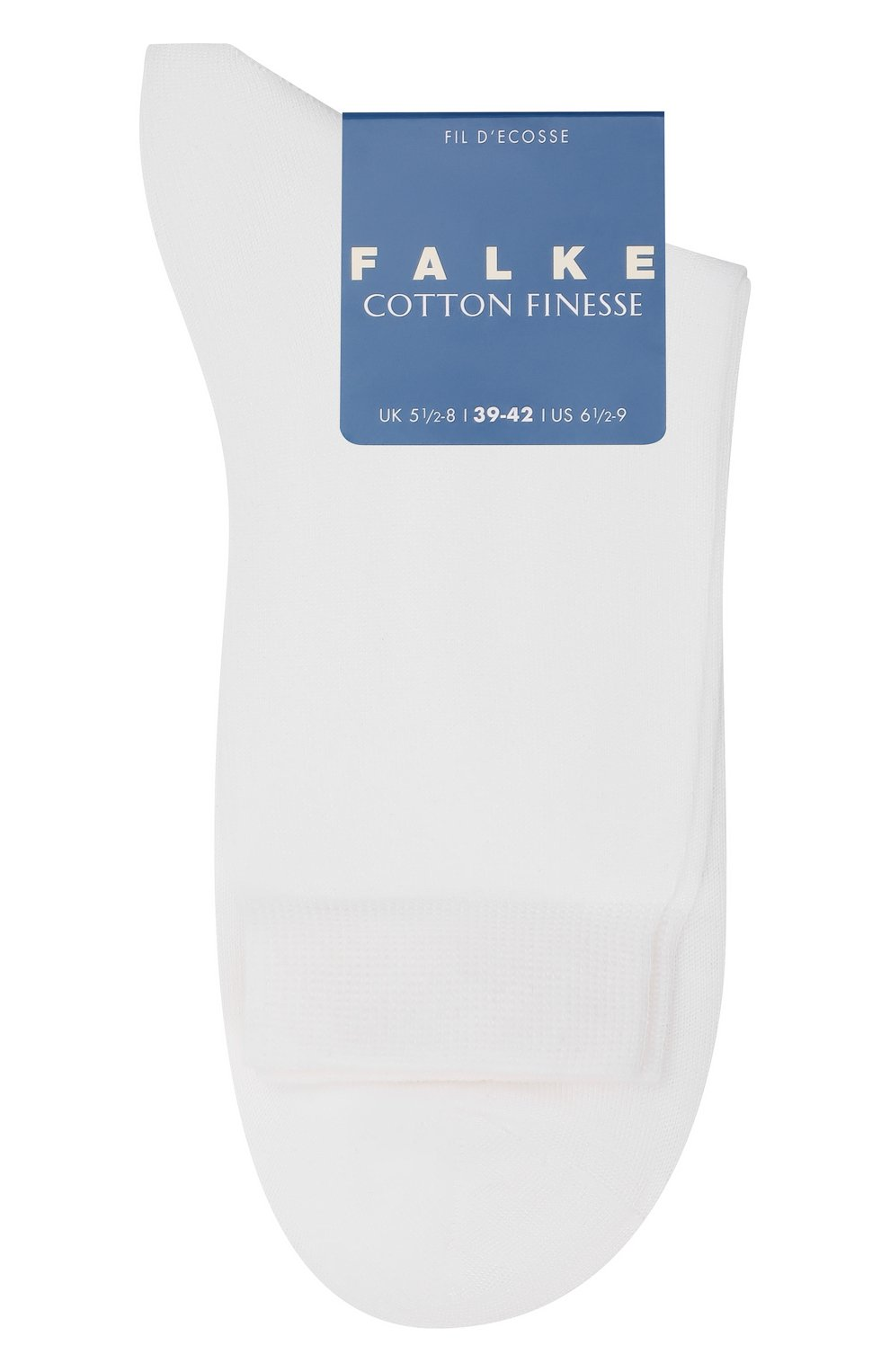 Детские хлопковые носки FALKE белого цвета, арт. 10669   Фото 1 (Материал: Текстиль, Хлопок; Статус проверки: Проверено, Проверена категория)