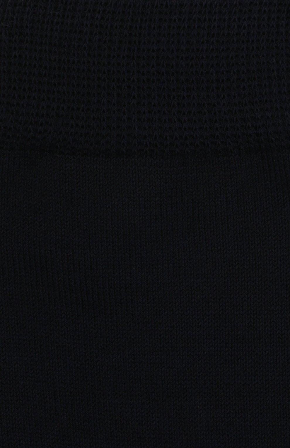 Детские хлопковые носки Falke темно-синего цвета | Фото №2