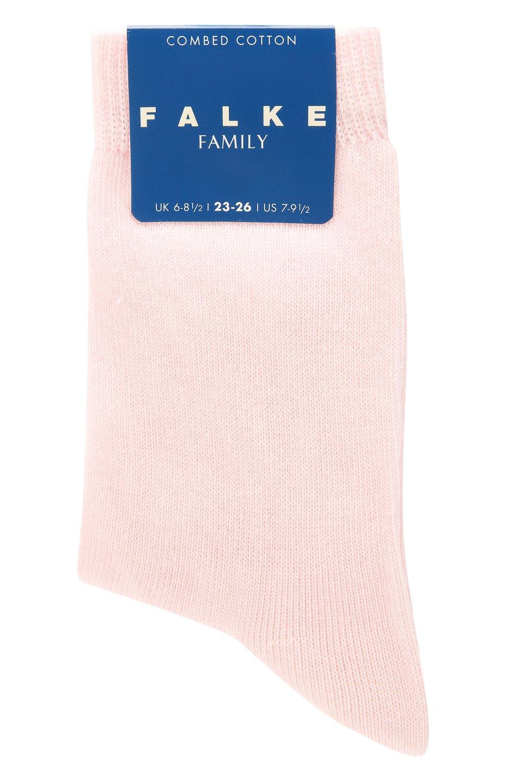 Детские хлопковые носки FALKE светло-розового цвета, арт. 10645 | Фото 1