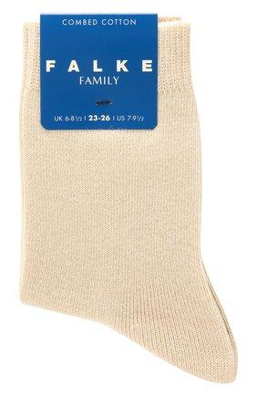 Детские хлопковые носки FALKE бежевого цвета, арт. 10645 | Фото 1