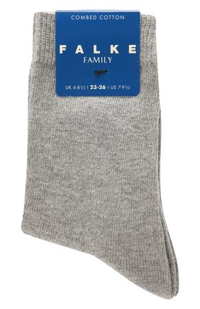Детские хлопковые носки FALKE серого цвета, арт. 10645 | Фото 1