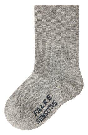 Детские хлопковые носки FALKE серого цвета, арт. 10626 | Фото 1