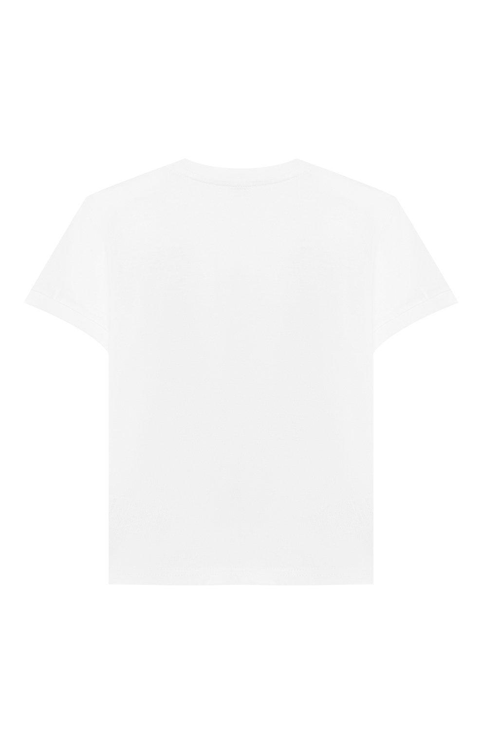Детский хлопковая футболка DOLCE & GABBANA белого цвета, арт. L2JTBE/G7RAW | Фото 2