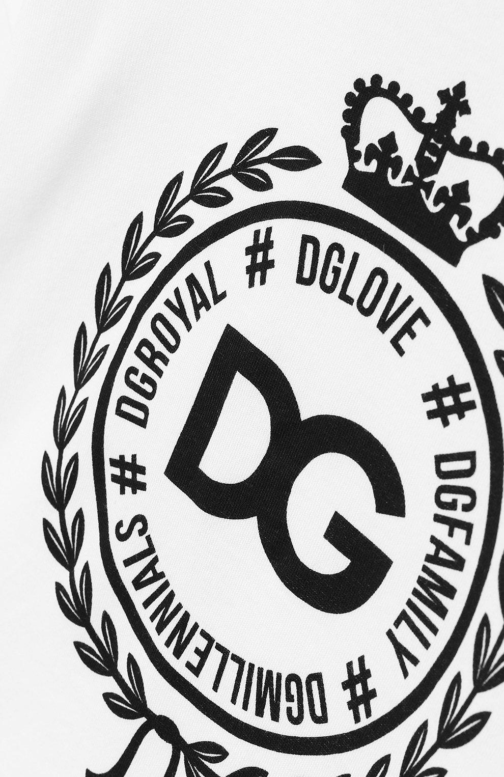 Детский хлопковая футболка DOLCE & GABBANA белого цвета, арт. L2JTBE/G7RAW | Фото 3