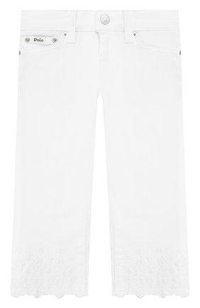 Укороченные джинсы с вышивкой | Фото №1