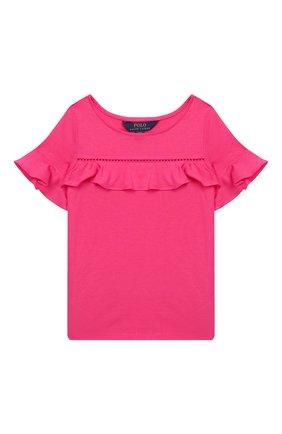 Детский топ из хлопка и вискозы POLO RALPH LAUREN розового цвета, арт. 311735821 | Фото 1
