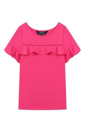 Детский топ из хлопка и вискозы POLO RALPH LAUREN розового цвета, арт. 313735821 | Фото 1