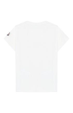 Детский хлопковая футболка MONCLER ENFANT белого цвета, арт. E1-951-80254-50-8790A | Фото 2