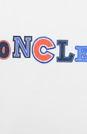 Детский хлопковая футболка MONCLER ENFANT белого цвета, арт. E1-951-80254-50-8790A | Фото 3