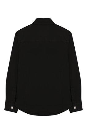 Детское хлопковая рубашка BALMAIN черного цвета, арт. 6K5530/KD950/4-10 | Фото 2