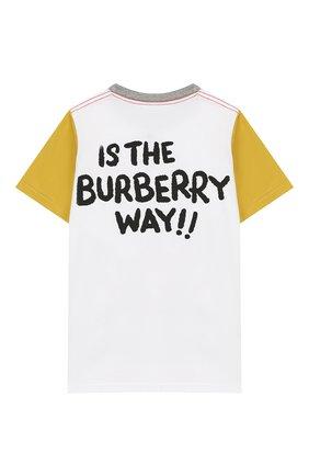 Детская хлопковая футболка BURBERRY разноцветного цвета, арт. 8005554 | Фото 2