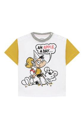 Детский хлопковая футболка BURBERRY разноцветного цвета, арт. 8006945 | Фото 1