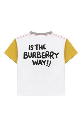 Детский хлопковая футболка BURBERRY разноцветного цвета, арт. 8006945 | Фото 2