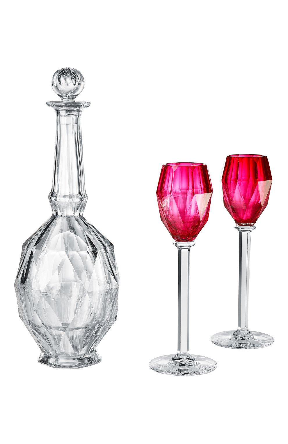 Мужского набор из графина и 2-х бокалов atlantic BACCARAT розового цвета, арт. 2 811 965 | Фото 1