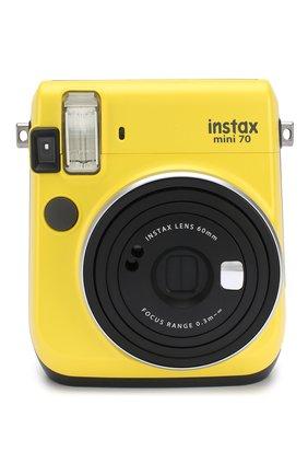 Мужская фотоаппарат fujifilm instax mini 70 yellow INSTAX желтого цвета, арт. 4547410313901 | Фото 1