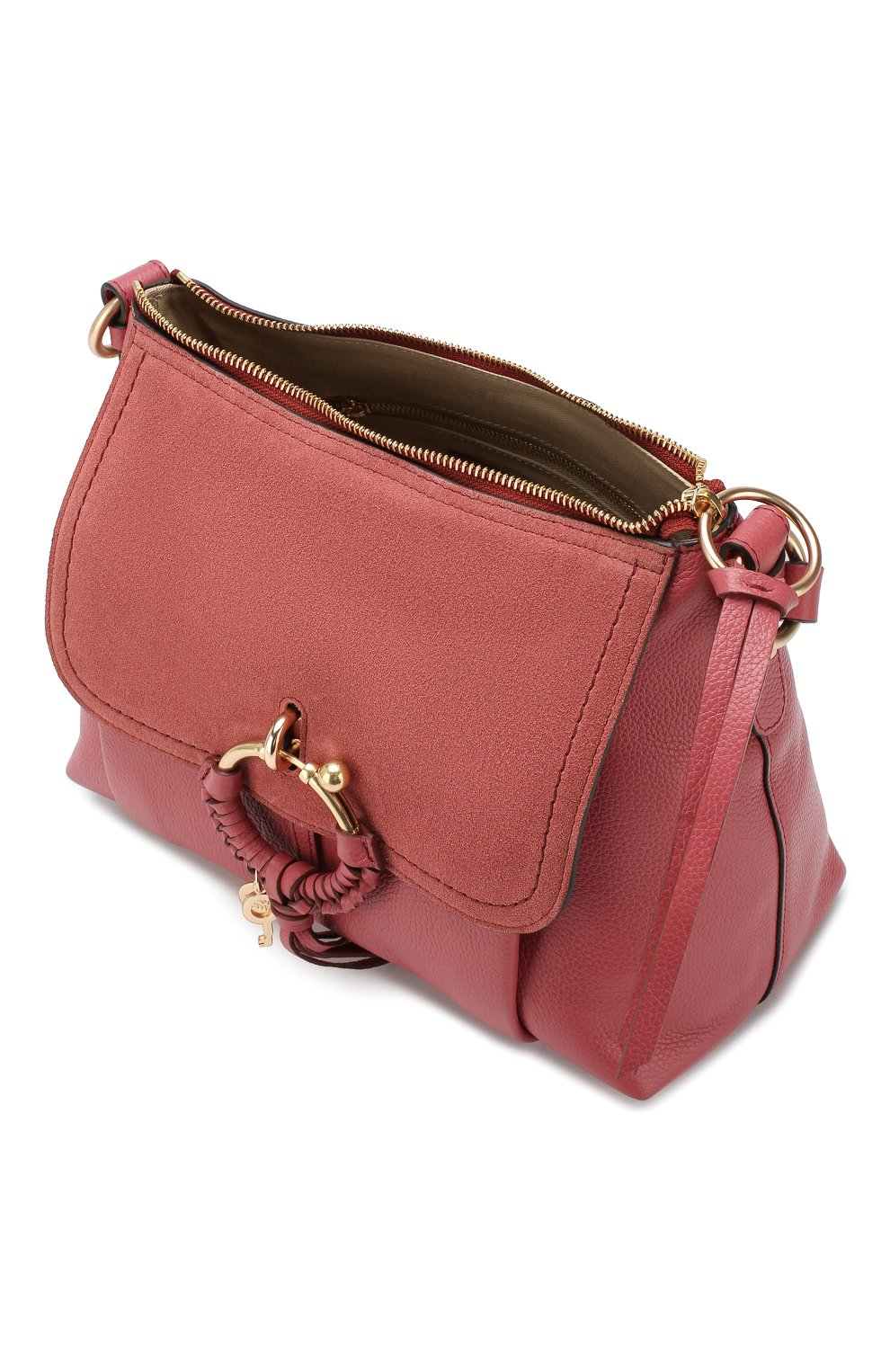 Женская сумка joan small SEE BY CHLOÉ розового цвета, арт. CHS17US910330 | Фото 4