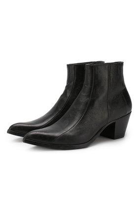 Женские кожаные ботинки lukas SAINT LAURENT черного цвета, арт. 558996/0Z000 | Фото 1