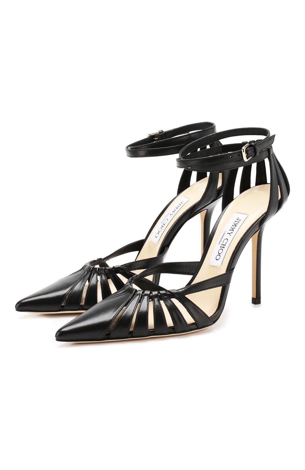 e3423682a7e Женские черные кожаные туфли travis 100 JIMMY CHOO — купить за 79650 ...