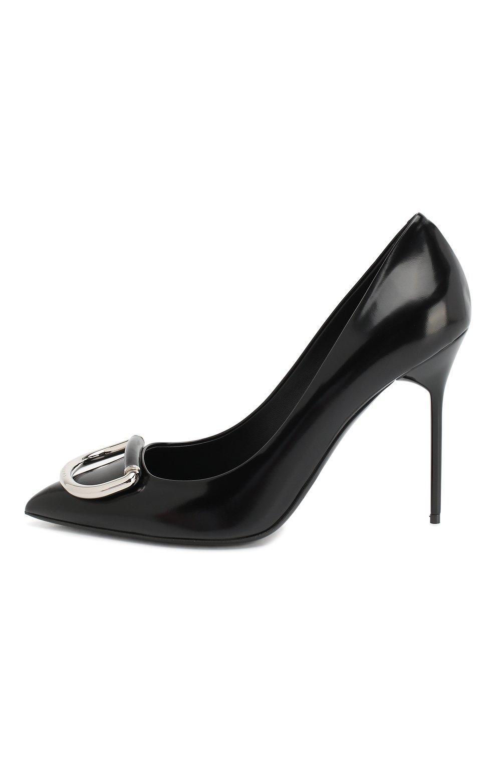 Кожаные туфли Burberry черные | Фото №3