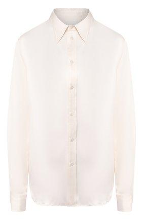 Женская шелковая блузка RALPH LAUREN кремвого цвета, арт. 290615556 | Фото 1