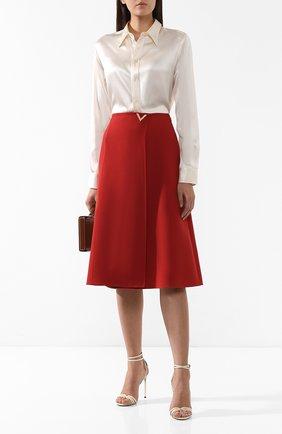 Женская шелковая рубашка RALPH LAUREN кремвого цвета, арт. 290615556 | Фото 2 (Рукава: Длинные; Материал внешний: Шелк; Длина (для топов): Стандартные; Принт: Без принта; Женское Кросс-КТ: Рубашка-одежда; Стили: Кэжуэл; Статус проверки: Проверена категория)
