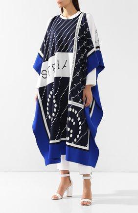 Пончо с логотипом бренда Stella McCartney синяя | Фото №3