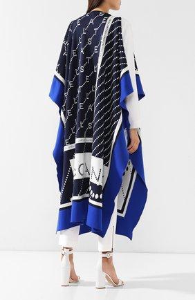 Пончо с логотипом бренда Stella McCartney синяя | Фото №4