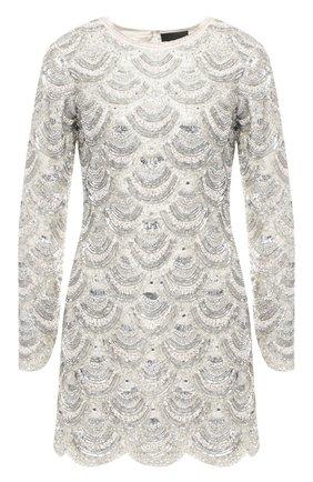 Мини-платье Retrofête серебряное | Фото №1