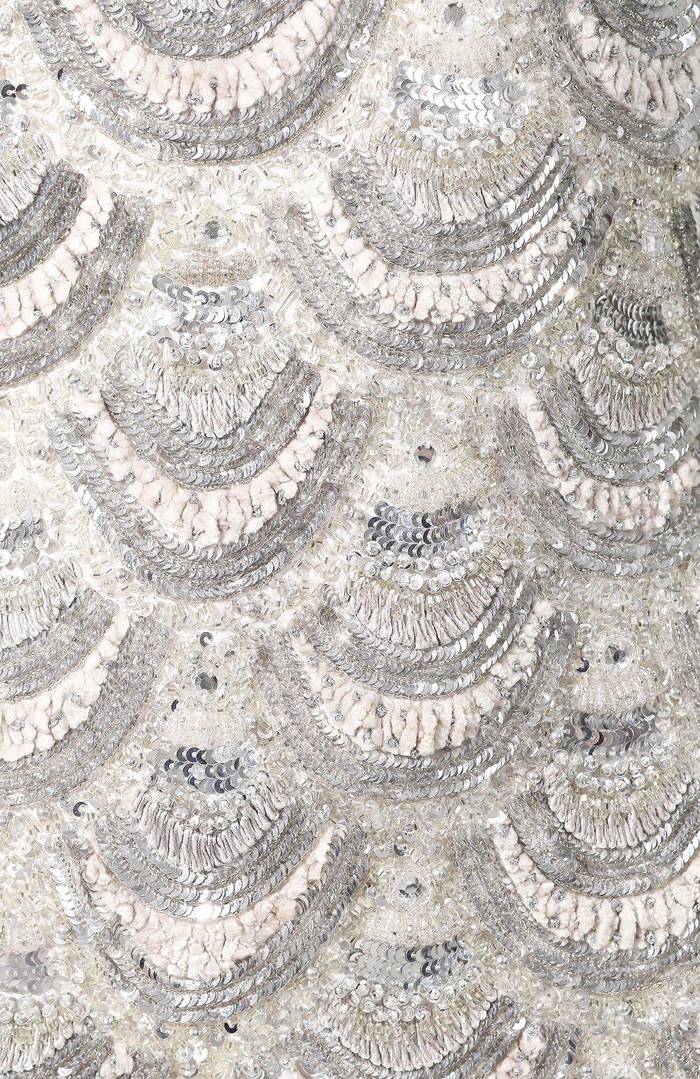 Мини-платье Retrofête серебряное | Фото №5