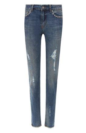 Женские джинсы с потертостями ZADIG&VOLTAIRE голубого цвета, арт. PWGCA3002F | Фото 1