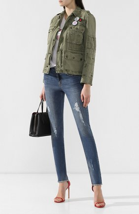 Женские джинсы с потертостями ZADIG&VOLTAIRE голубого цвета, арт. PWGCA3002F | Фото 2
