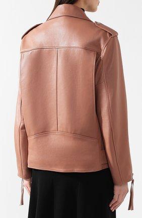 Кожаная куртка с поясом | Фото №4