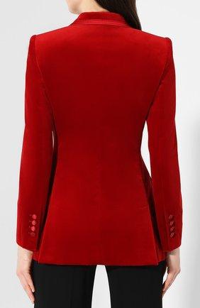 Бархатный жакет Dolce & Gabbana красный | Фото №4