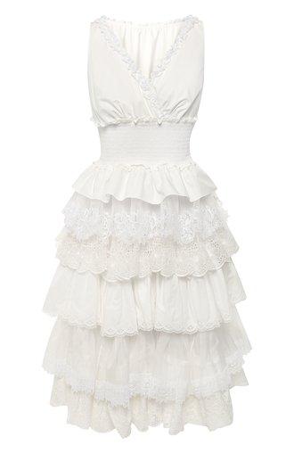 Платье из смеси хлопка и шелка