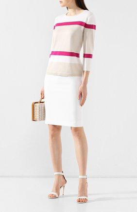 Женская юбка ST. JOHN белого цвета, арт. K784W00 | Фото 2