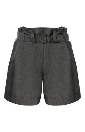 Женские хлопковые шорты BRUNELLO CUCINELLI темно-серого цвета, арт. M0H91P6907 | Фото 1