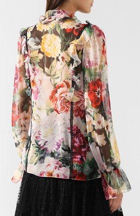 Блузка из смеси шелка и хлопка Dolce & Gabbana разноцветная | Фото №4