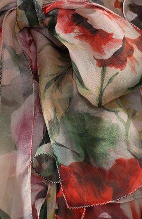 Блузка из смеси шелка и хлопка Dolce & Gabbana разноцветная | Фото №5