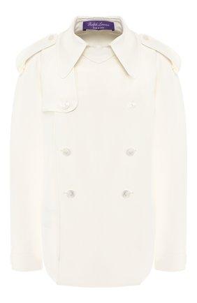 Женская шелковая блузка RALPH LAUREN белого цвета, арт. 290748309 | Фото 1