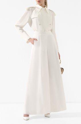 Женская шелковая блузка RALPH LAUREN белого цвета, арт. 290748309 | Фото 2