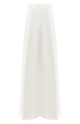 Женские брюки из смеси хлопка и льна RALPH LAUREN белого цвета, арт. 290748310 | Фото 1