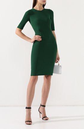 Женское приталенное платье DOLCE & GABBANA зеленого цвета, арт. F6D3ST/FURDV | Фото 2